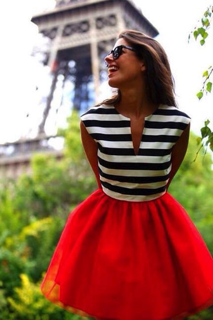 Bastille day outfits 3 french inspired outfit ideas for French striped shirt and beret