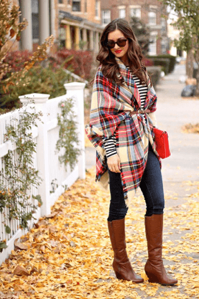 Belted draped scarf style