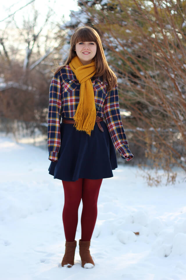 Winterized spring outfit