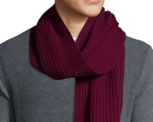stylish way to wear a scarf