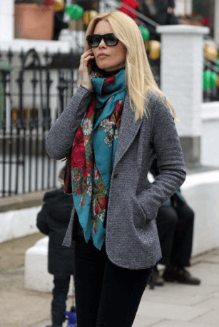 Women with a stylish scarf style