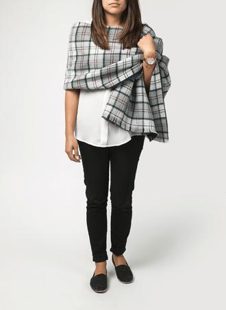 Wrap scarf style
